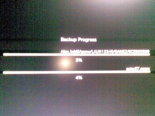Backing up Uncharted